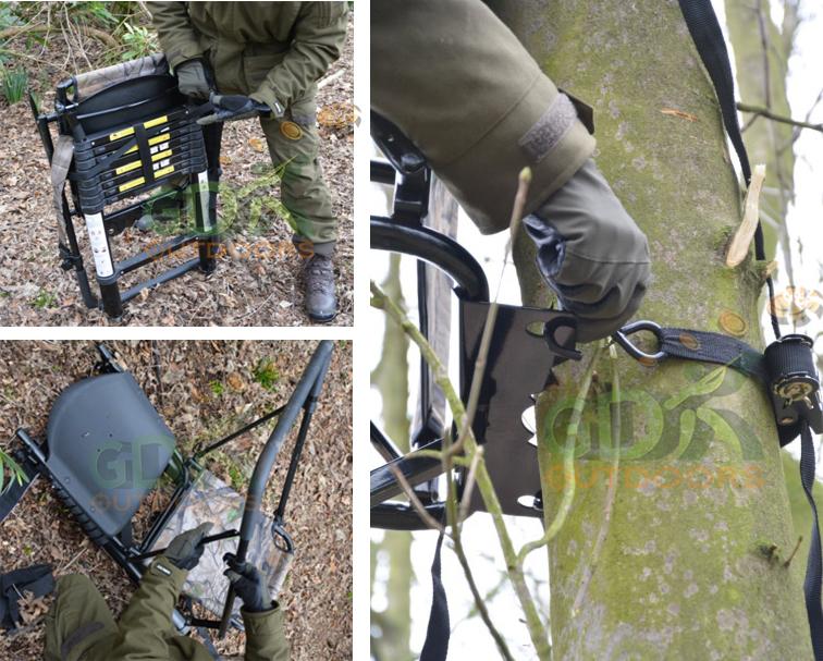 Telescopic High Seat Backpack Designclay Pigeon Traps Gun